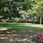 Der Park direkt am Haus